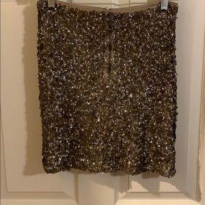 Free People Sequin Mini Skirt